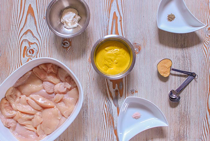 Easy and delicious mustard chicken ingredients