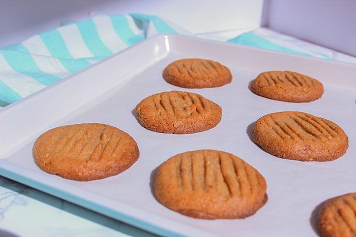 3 Ingredient Peanut Butter Cookies Baked