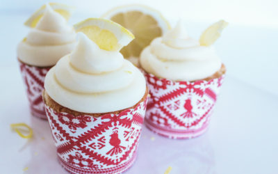 Lemon Cupcakes with White Chocolate Raspberry Cream Cheese