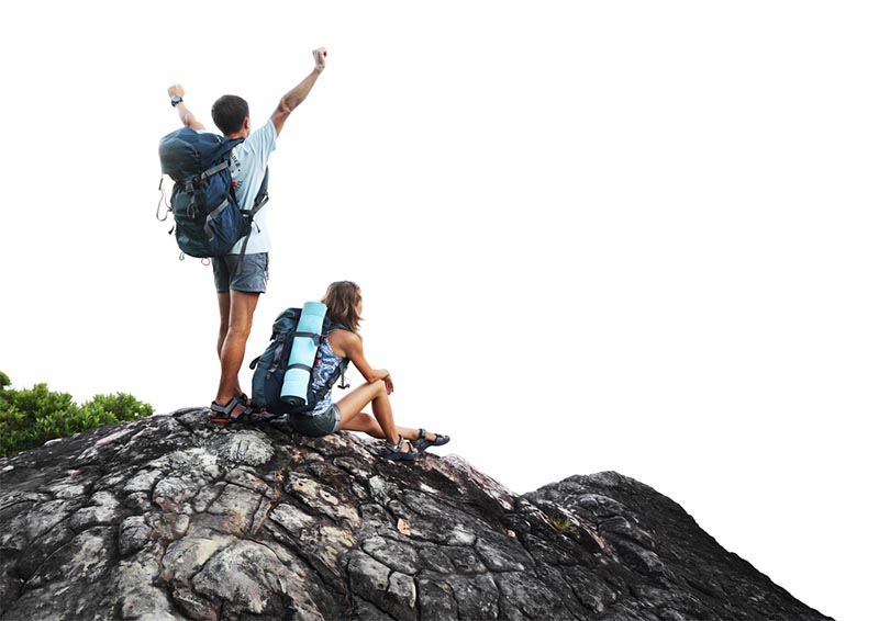 Take-a-Hike-Couple-on-top-of-cliff