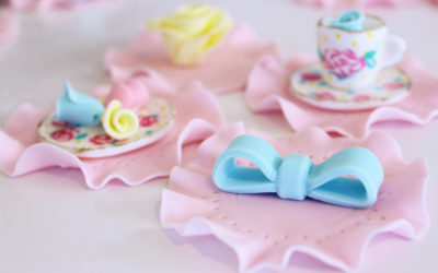 Tea Party Cupcake Topper with Bow Tutorial