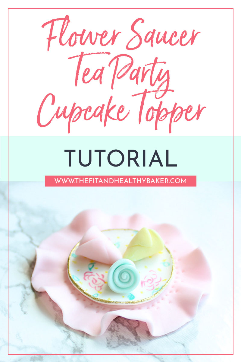 Flower Saucer Tea Party Cupcake Topper Tutorial