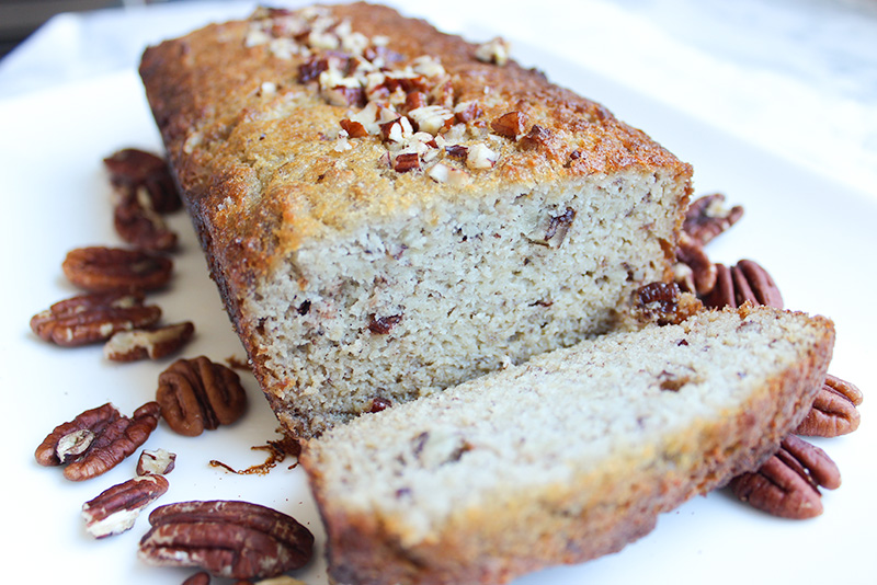 Healthy Banana Pecan Bread