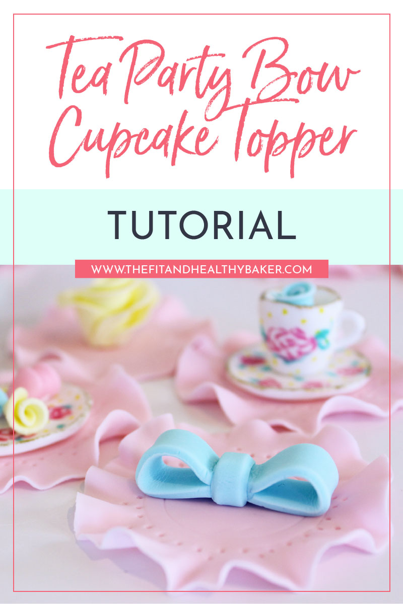 Tea Party Bow Cupcake Topper Tutorial