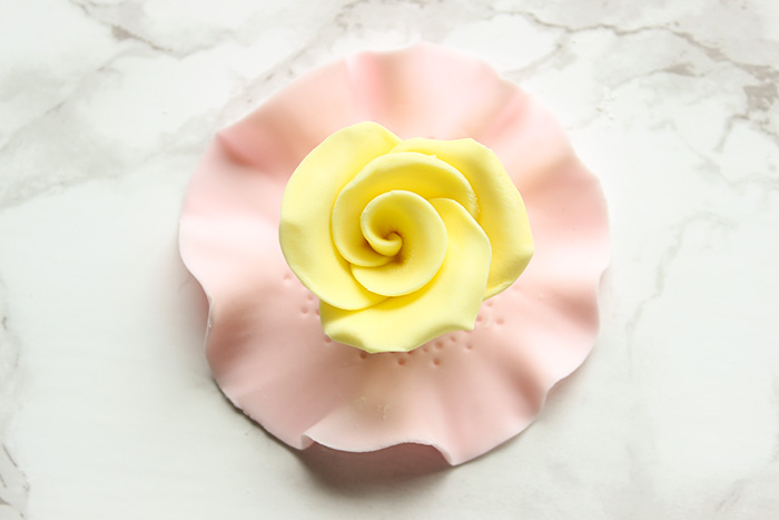 Yellow Rose Tea Party Cupcake Topper