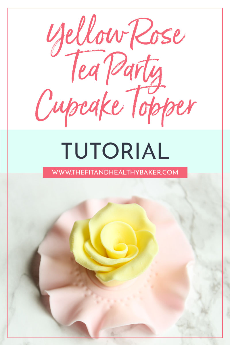 Yellow Rose Tea Party Cupcake Topper Tutorial