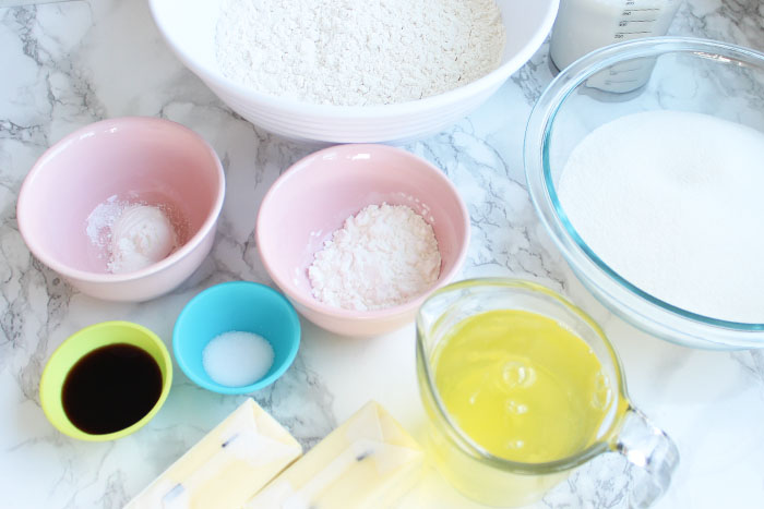 Delectable Vanilla Cake - Ingredients