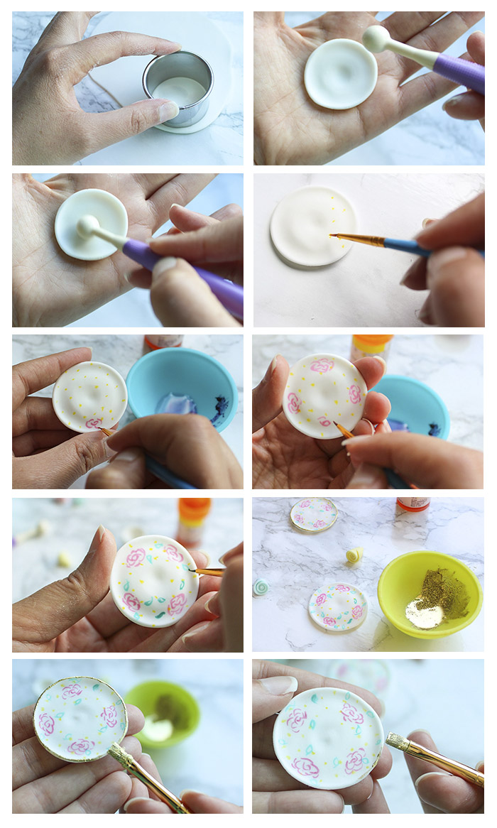 Teacup and Saucer Cupcake Topper - create and paint saucer