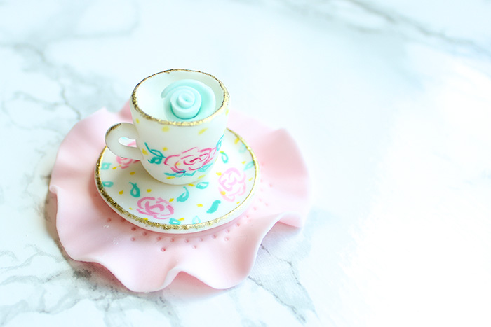 Teacup Tea Party Cupcake Topper