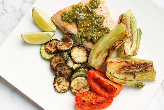Sun Basket Meals - chimichurri salmon