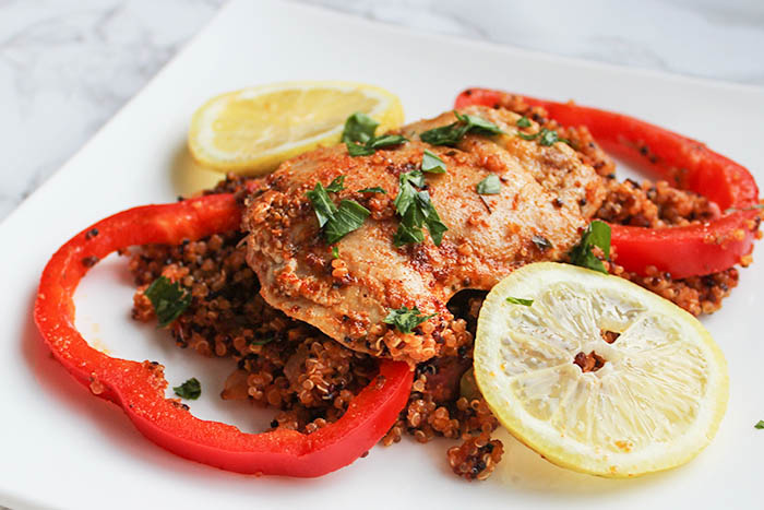Sun Basket Meals - spanish style chicken and quinoa meal