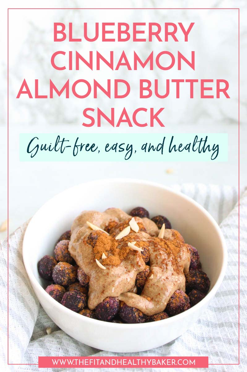 Blueberry Cinnamon Almond Butter Snack - Guilt-Free and Healthy