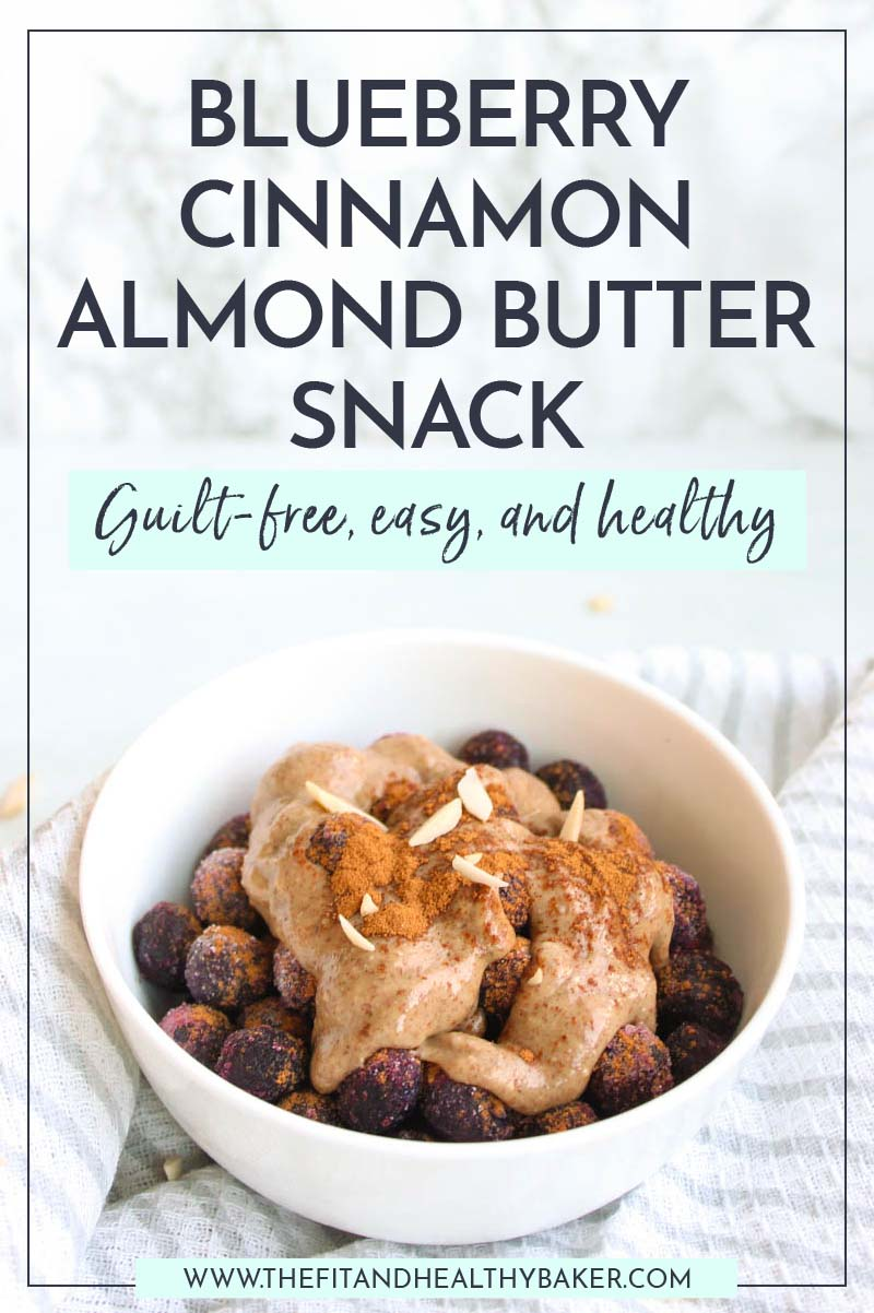 Healthy Blueberry Cinnamon Almond Butter Snack