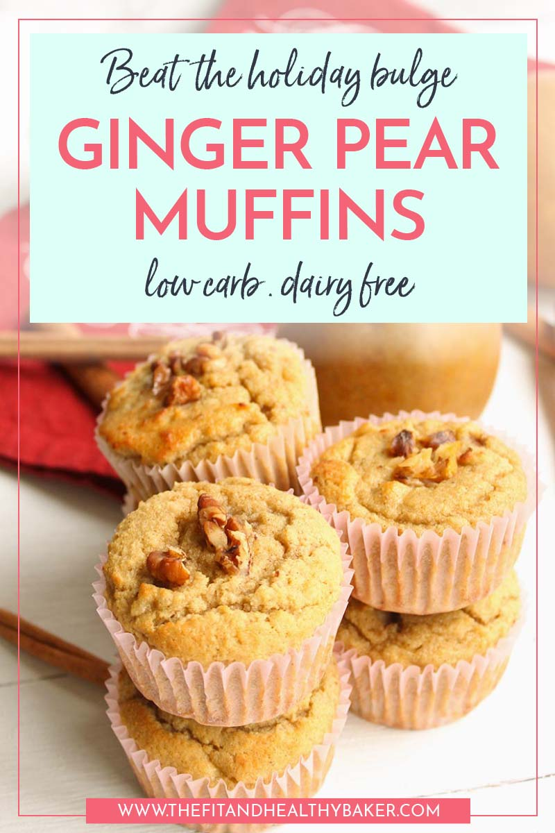 Ginger Pear Low Carb Muffins