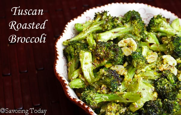 Keto Thanksgiving Meal -Tuscan-Roasted-Broccoli-Savoring-Today