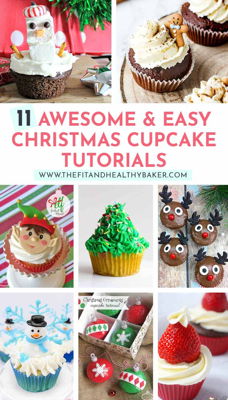 Easy Christmas Cupcakes Decorating Ideas.11 Awesome And Easy Cupcake Tutorials For Your Christmas