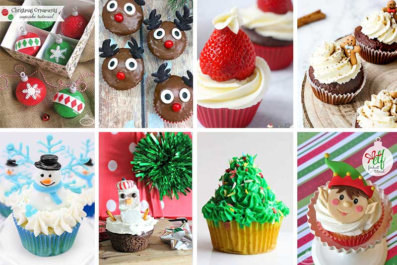 11 Awesomeand Easy Cupcake Tutorials for Your Christmas Celebration