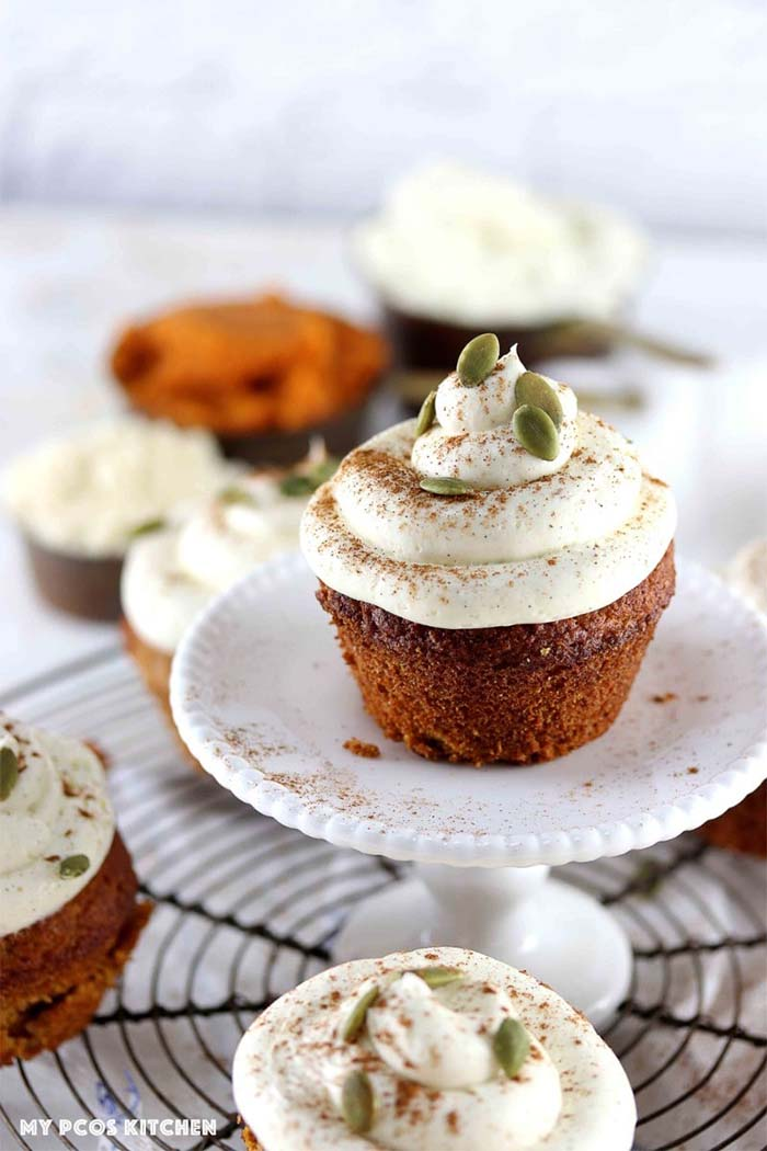 Healthy Holiday Baked Goods - pumpkin-cupcakes