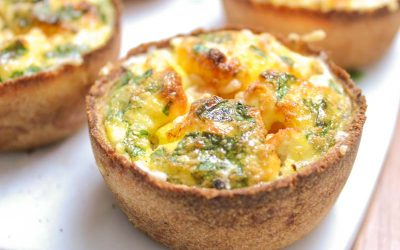 Low Carb Tomato Goat Cheese Mini Quiche