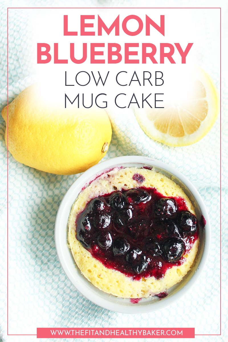 Lemon Blueberry Low Carb Mug Cake2